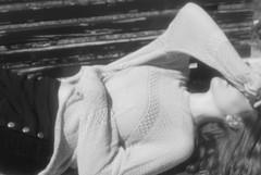 somewhere quiet, to lay myself down (HelenaSiddall) Tags: blackandwhite blur blurry model lisbon laying