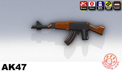 Custom minifig AK47