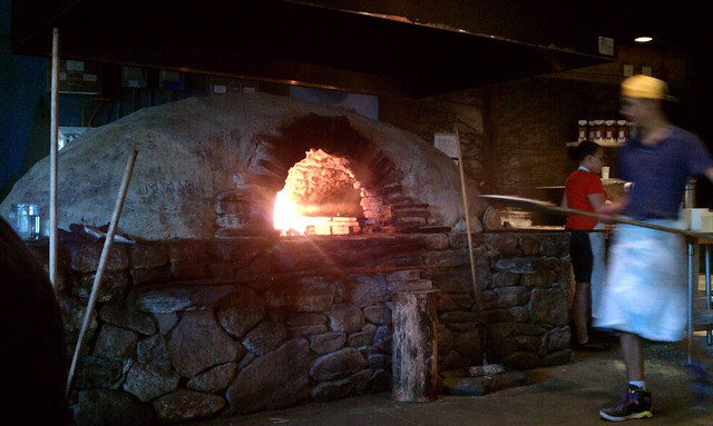 wood fired stove @flatbread