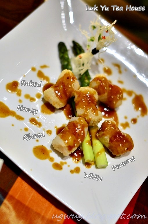 Baked Honey Glazed White Prawns