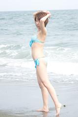 01852 (cosfit) Tags: ocean sea portrait people woman cute sexy beach girl beautiful beauty fashion japan lady asian japanese model asia pretty bikini swimsuit bathingsuit swimwear 20110703nisgp
