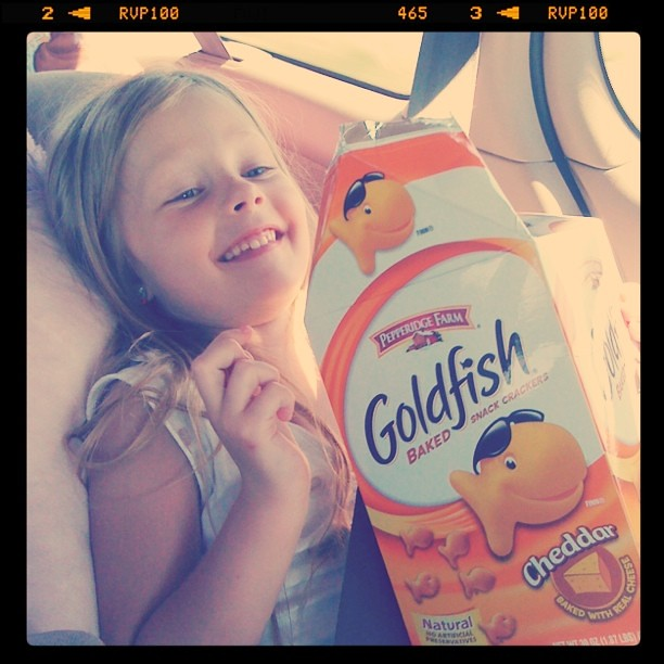 On the road to #evoconf @PepperidgeFarm goldfish sure make my kids smile.