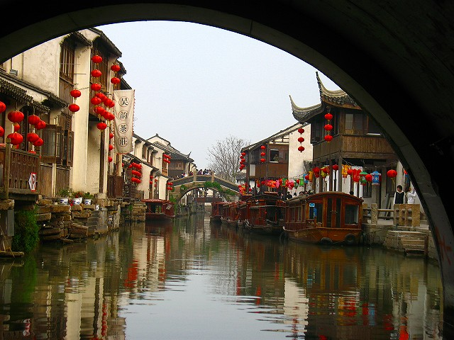 世界遺産と運河めぐり・蘇州日帰り観光(海外の水の都・水郷都市を訪問できるオプショナルツアー)