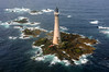 An aerial view of Skerryvore Lighthouse and reef (12 miles SW of Tiree), Scotland (iancowe) Tags: ocean lighthouse tower rock scotland pillar scottish atlantic helicopter stevenson tiree northernlighthouseboard nlb hynish skerryvore lighthousetrek alanstevenson wbnawgbsct