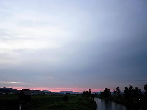 7月6日の夕空
