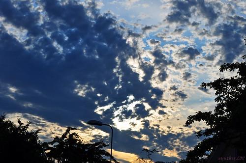 evenings cloud.