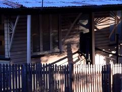 urban cottage Paddington (Leonard J Matthews) Tags: door windows light sunset shadow urban house building fence cottage australia shade queensland paddington mythoto