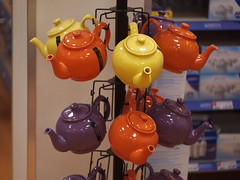 Teapot tree (Rusty Marvin (Going around the pole)) Tags: orange yellow tea teapot teapots apr22 scapr scavchal scapr22