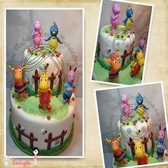Bolo cenográfico backyardigans (Sonhos Modelados) Tags: cake evento bolo backyardigans decoraçãoinfantil bolofalso
