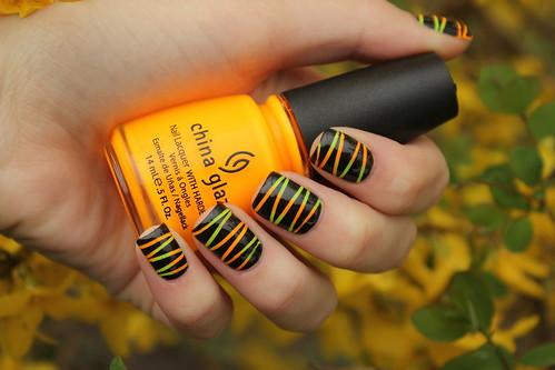 Yellow&Orange Neon Stripes