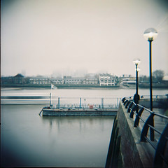 Greenwich (nick richards art) Tags: england colour london 120 thames river boats lomo lomography location 120film diana dianaf canarywharf analoguephotography