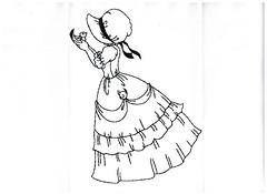 Risco para pintura e bordado. (Casa de Bonecas Atelier) Tags: linhas pattern embroidery desenhos fios pintura bordados riscos moldes trabalhosmanuais agulhas pontoslivres bordadoamao
