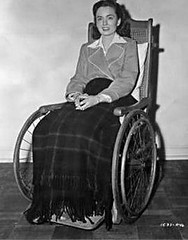 Vintage polio gal on wheels (jackcast2015) Tags: polio infantileparalysis handicapped disabledwoman crippledwoman wheelchair paraplegic paraplegicwoman vintagewheelchair
