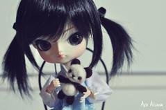 Nanami  panda (Au Aizawa) Tags: dal darony japanese fashion doll handmade needlefelting feltwool wool felt mascot panda