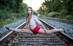 (rebekkaweigand) Tags: stare look nature one world balance legs dancer dance acro splits felxible woman girl tracks train beautifull hamilton toronto model