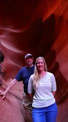 My Sister and I in Lower Antelope Canyon (marada) Tags: lowerantelopecanyon pagearizona colors slotcanyon hiking