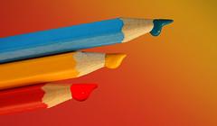 Drops for Macro Monday PPEP (Wim van Bezouw) Tags: macromondays ppep pencil paint colour color object paintdrop sony ilce7m2 a7m2