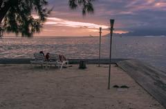 Sunset and Couple at Manava Suite Resort Tahiti (sapphire_rouge) Tags: frenchpolynesia    beach moorea  girl resort  francehpolynesia coral pacificisland pool society woman ngc societyislands sunset tahiti southpacific atoll manava polynesia island  manavasuiteresort afternoon bikini