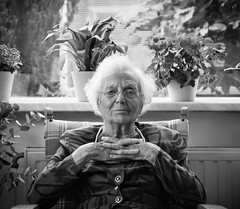 Grandma (Oh beautiful world.) Tags: old portrait people blackandwhite woman grandmother ohbeautifulworld hannekevollbehr