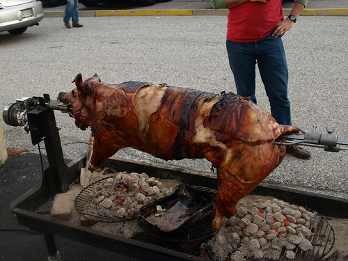 The main entree - pig