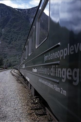 Train on Flåmbanen train line, Norway
