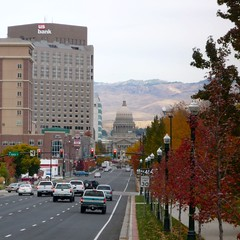 Downtown Boise (gharness) Tags: autumn foothills downtown capital idaho boise capitol capitoldome usbankbuilding capitolblvd