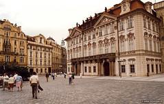 Prague, Golz-Kinsky Palace, 1988 (John Riper) Tags: praha prague johnriper czech republic 1988 golzkinsky palace czechoslovakia john riper