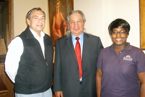 President Lewis Duncan, John Echohawk and Sonia Minors (Class of 2012)