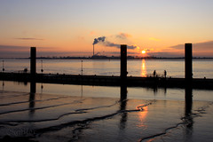 Ripples and Scares on a SUNday Sunset (S@ilor) Tags: sunset sea reflection germany industrial mud tide north northsea lowtide westcoast bremerhaven tidalriver industrialsunset riverweser mywinners silor bestofmywinners ripplesandscares