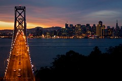 San Francisco facing West at dusk