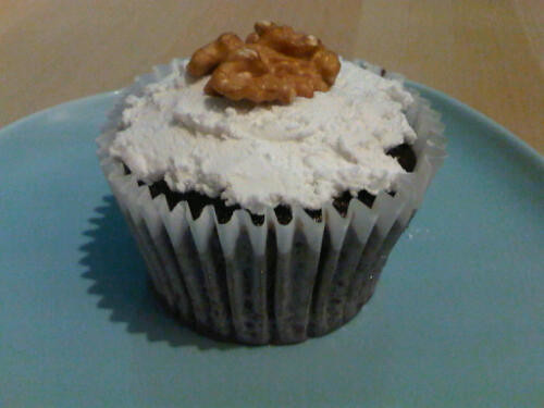 Chocolate chestnut cupcake