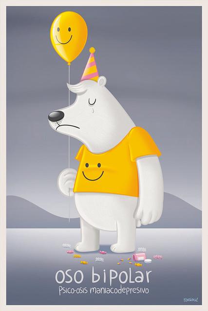 oso bipolar ilustración