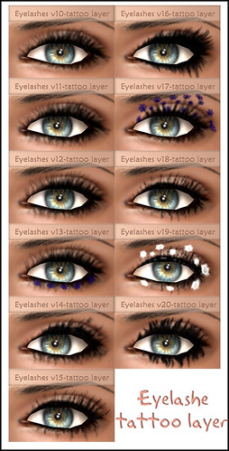 Eyelashes tattoo layer by Garage