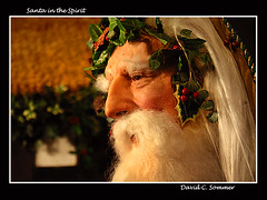 Santa in the Spirit (DaveSommerPhotos) Tags: christmas xmas holiday beard seasonal holly pa lancaster stnicholas stnick saintnicholas whitebeard christmasmuseum