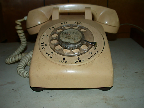 An old school telephone