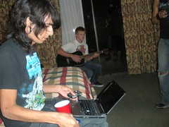 Everyone was obviously entertained. (lolaxmeister) Tags: birthday hotel drink laptop brandondavis mannyponce ismaelcardenas