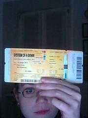 Ticket for Soad' concert in Milan - 2nd of june 2011