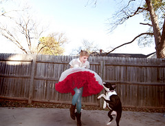 Truly a leap (Sherri DuPree Bemis) Tags: birthday pink girl vintage puppy mouse dress skirt boxer minnie tulle sherri dupree eisley bemis