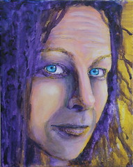 Self-portrait - by Kylie Fowler (Pepyat) - Acrylic (Kylie Fowler AKA: Blissful Pumpkin) Tags: portrait people woman face closeup lady female portraits painting scary artwork eyes paint artist acrylic purple kylie head mixedmedia coloured fowler whimsical kyles realism howtodraw onmyblog smiliepumpkin pepyat blissfulpumkin kyliefowler kyliepepyat kyliepepyatfowler blissfulpumpkin httpblissfulpumpkinblogspotcom kyliefowlercom howtopaintbigeyedgirlskyliepepyatkyliepepyatfowler