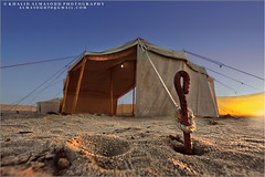 Our camp ready (khalid almasoud) Tags: camping winter sunset camp sky sun canon fence eos ray all photographer desert cords  tent rights kuwait khalid reserved wedge  greatphotographers 50d photographyrocks almasoud  thebestofday gnneniyisi