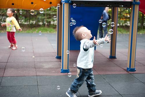 非常喜歡吹泡泡