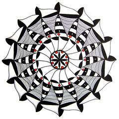 mandala001 (Amaryllis Creations) Tags: mandala penink zentangle
