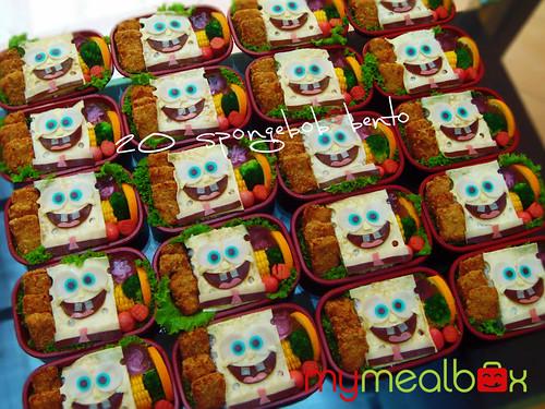 20 Spongebob bento