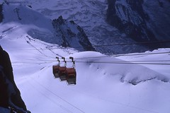Triplicate - French Alps 1964 (Rob Ketcherside) Tags: snow france mountains lift tram slide cablecar gondola 1960s kodachrome chamonix tramway montblanc 1964 frenchalps valleblanche tlphrique laiguilledumidi tlphriques