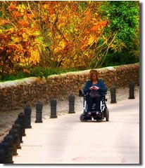 MI DESCAPOTABLE Y YO  ;O)) (nanettesol) Tags: autumn portrait self camino wheelchair silla nana superlativas