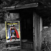 "Film homage, 1970s, Linda Carter, ""Wonder Woman,"" outhouse, near Marshall, NC, 1977"