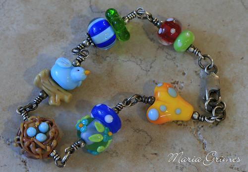 Feelin' Happy Lampwork Bracelet