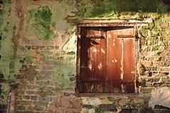 Wooden window (KC Toh) Tags: old brick window wall wooden rusty 木 rundown 墙 窗 d90 锈 陈旧 砖 18105mm 旧漆