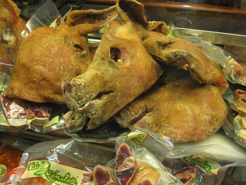 salted dried pig head