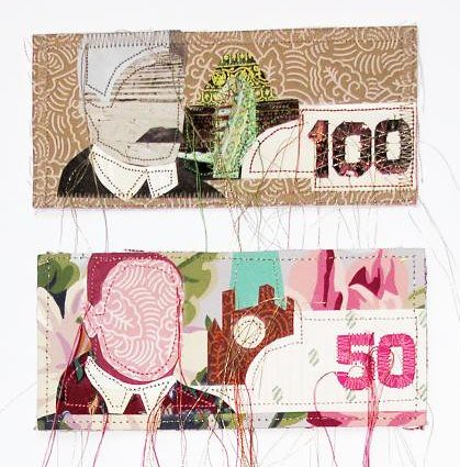 money with strings (detail)